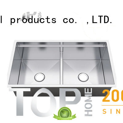 Top Home deep single bowl kitchen sink wash easily for countertop