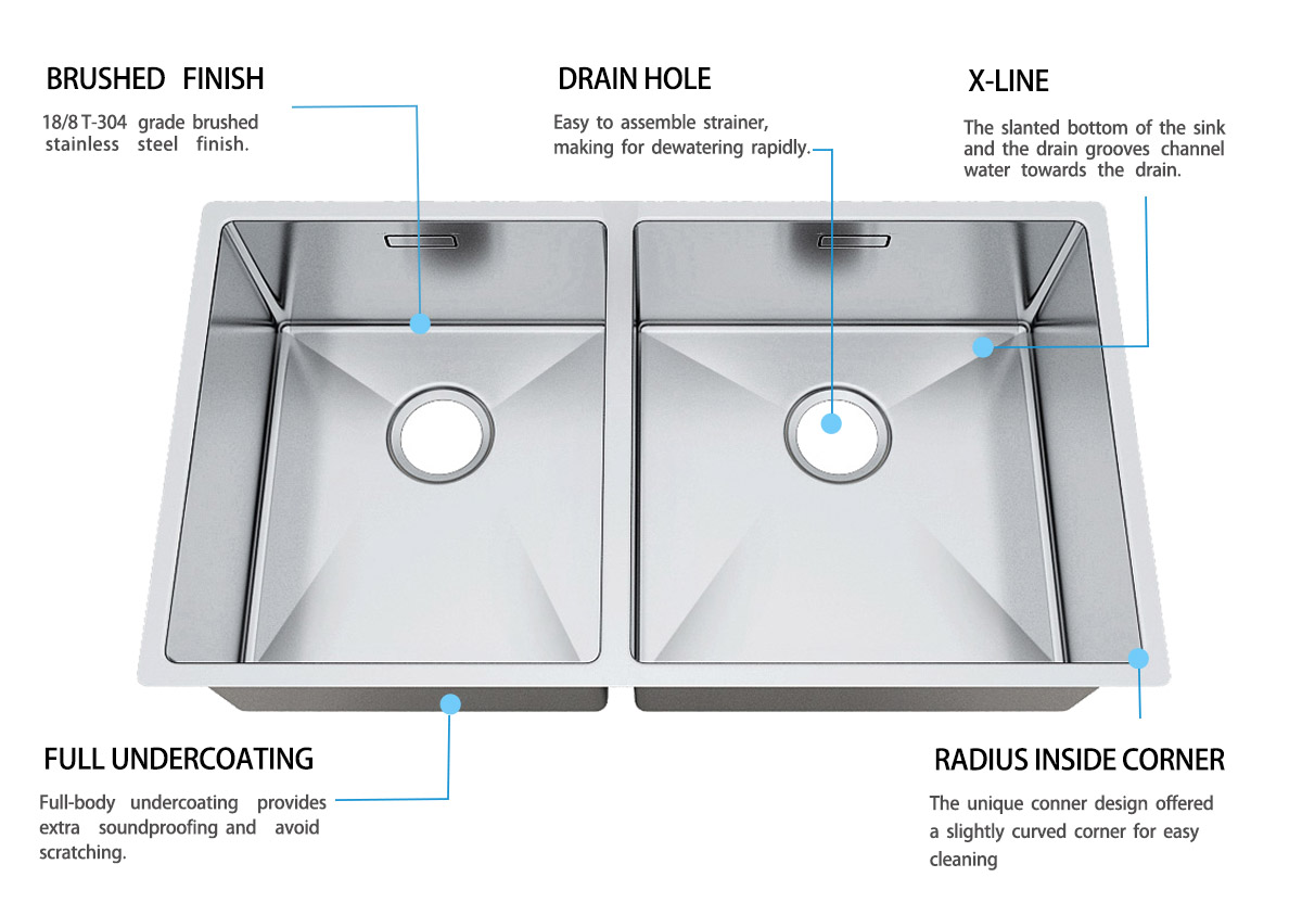 easy to clean undermount kitchen sink handmade durability for cooking-6