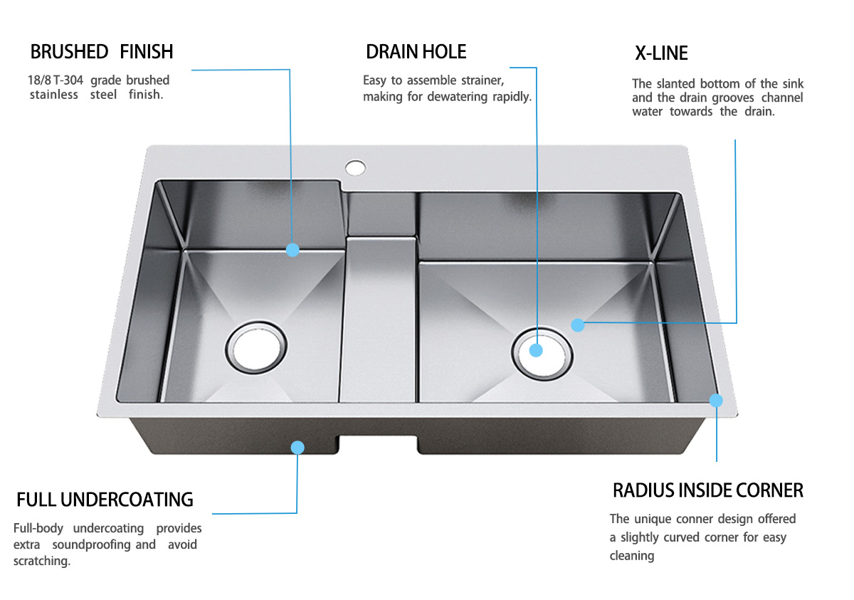 Top Home double kitchen sink price online cook-6