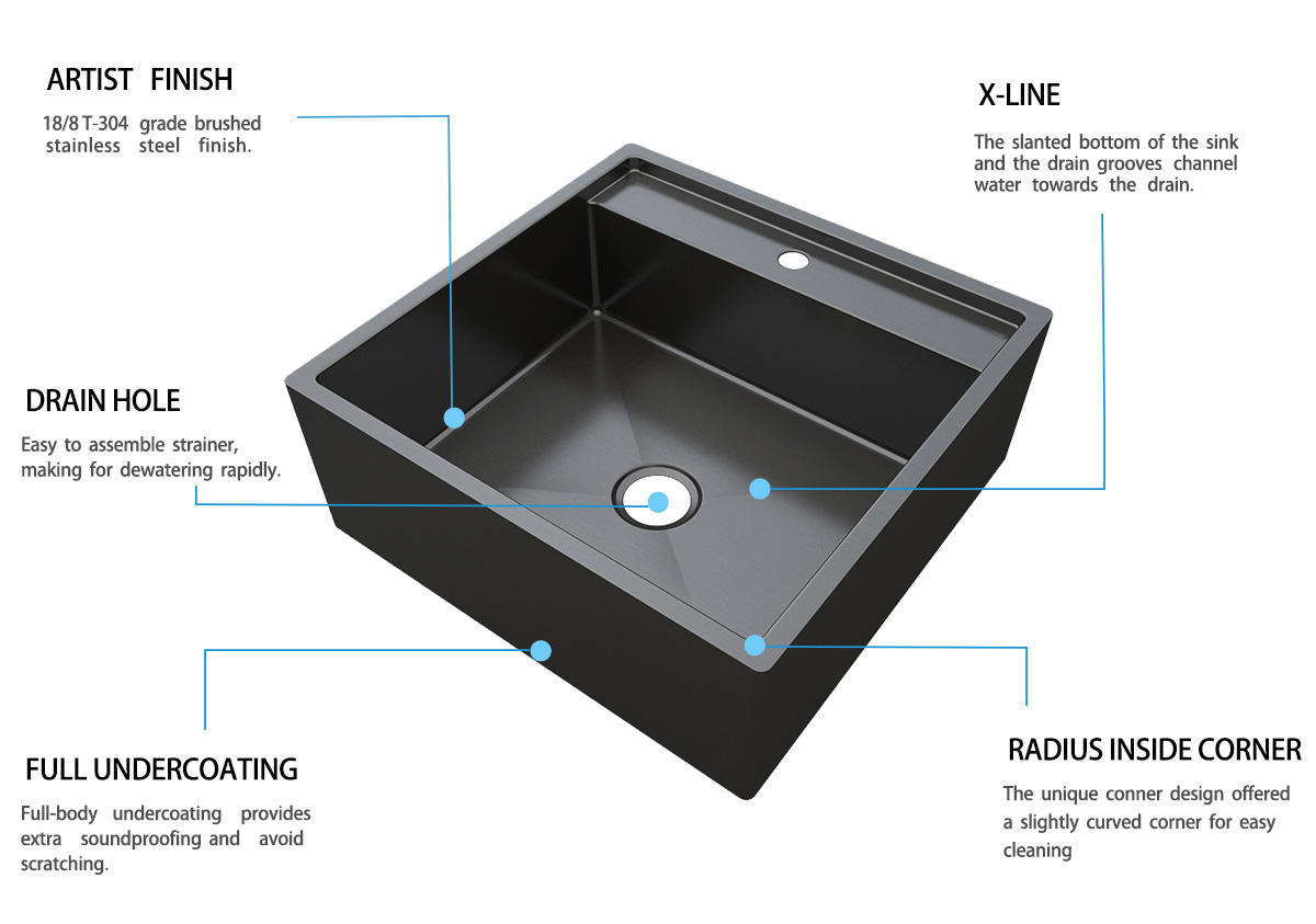 16 kitchen sink dual mount metal apartment
