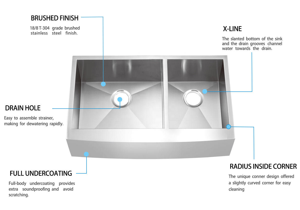Top Home superior stainless farm sink supplier for restaurant