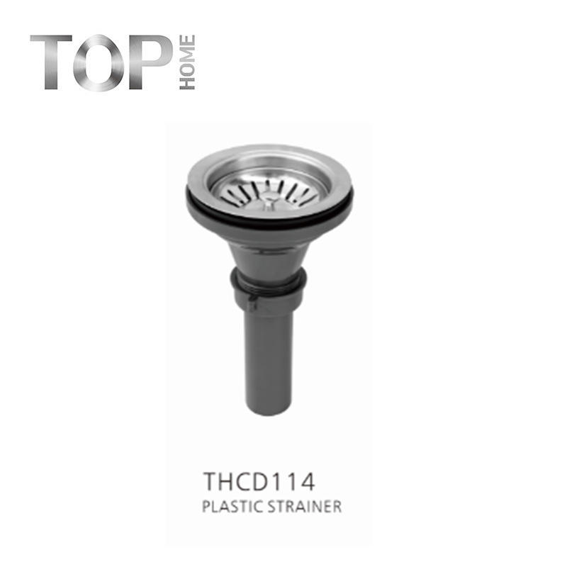 THCD114 kitchen sink screen with removable deep trash basket / screen assembly / sealing lid, stainless steel