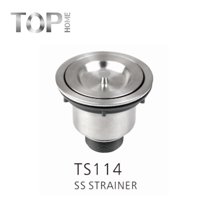 TS114 kitchen sink drain with screen – 304 stainless steel screen and drain set