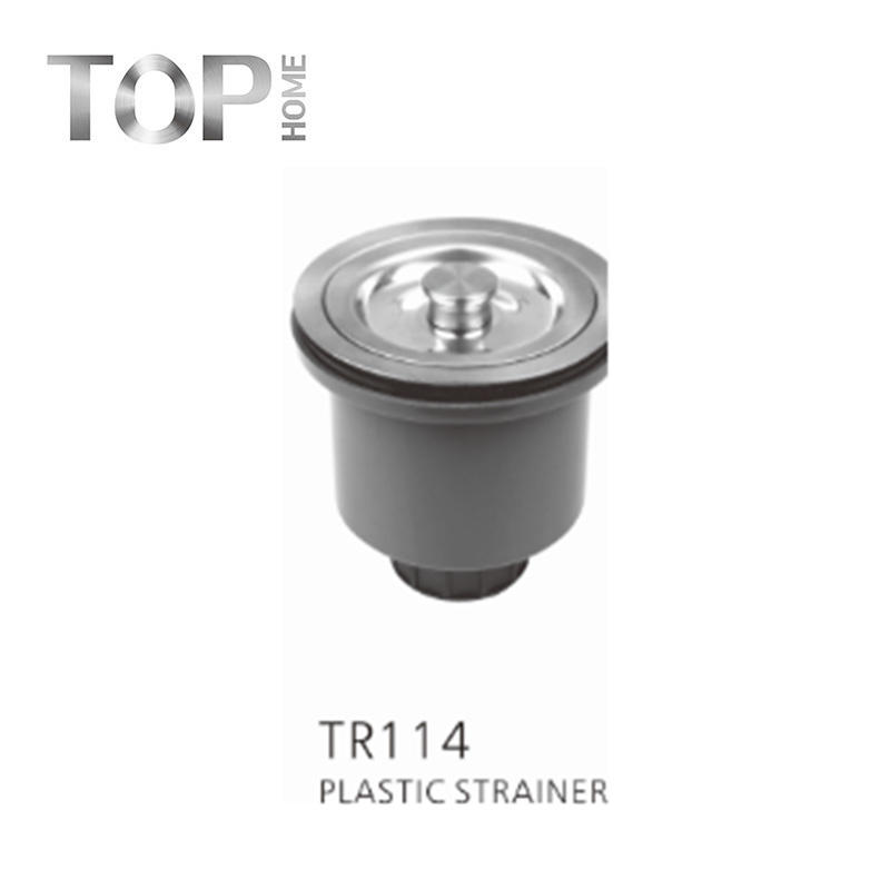 TR114 304 high-grade stainless steel construction with removable deep waste basket and closure