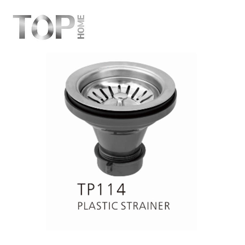 TP114 Kitchen strainer for stainless steel sink Removable Post style basket, very convenient
