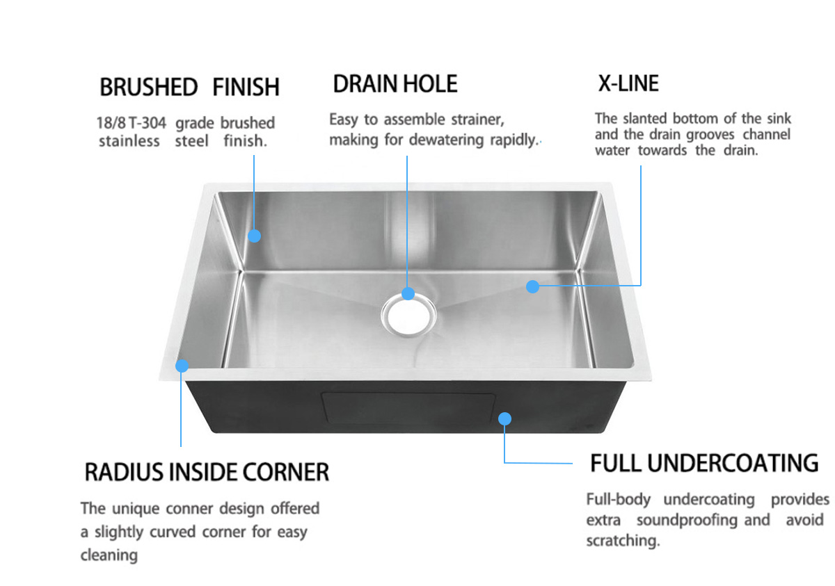 Top Home utility commercial stainless steel sink durability kitchen-6
