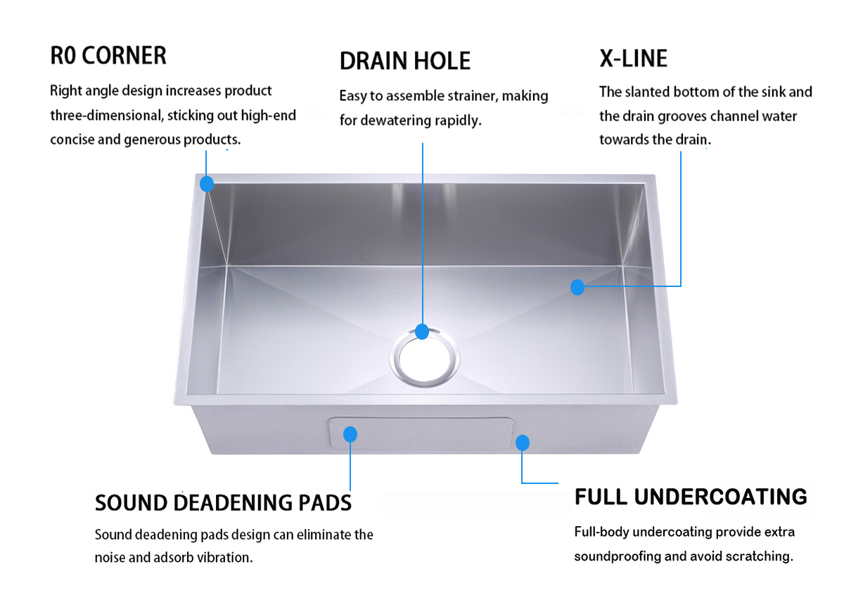 good quality stainless steel under mount sink cupc easy installation kitchen-6