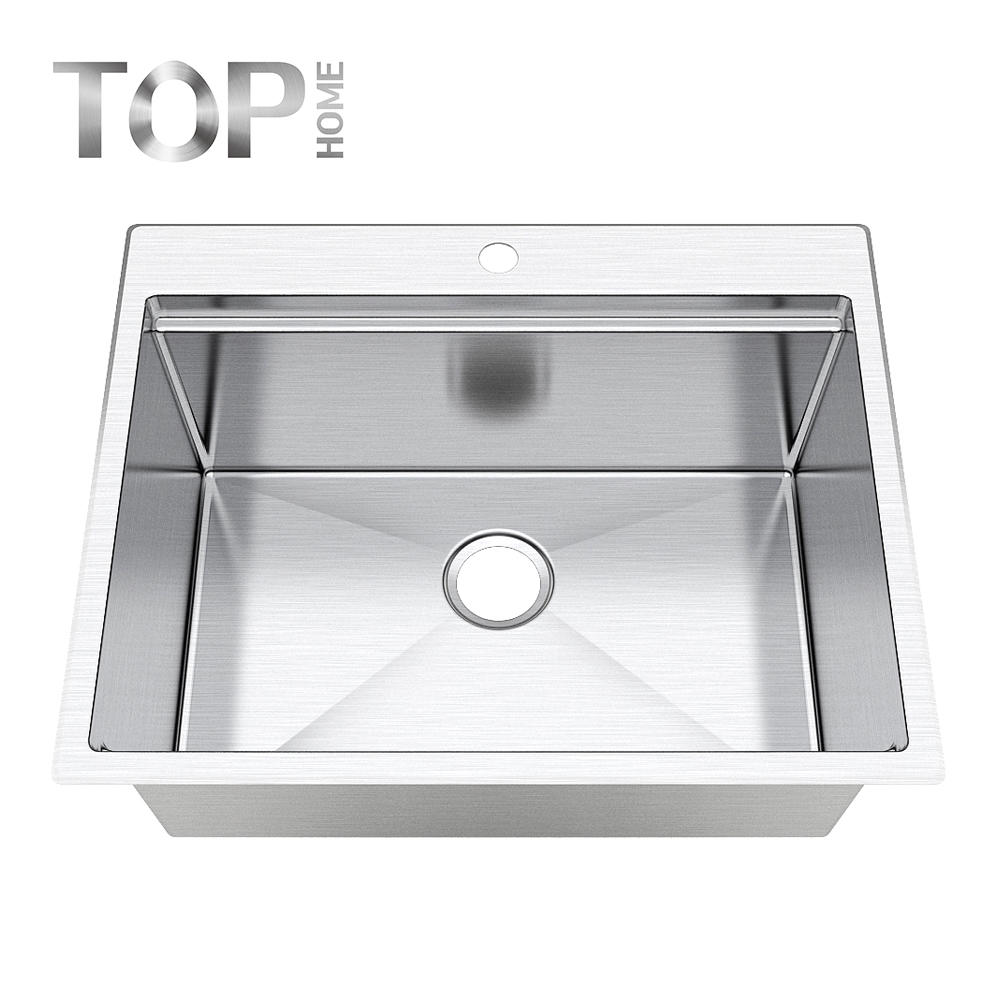 T2520 Atlas kitchen sink made by 304 stainless steel modern topmount installation with balck/rose gold color