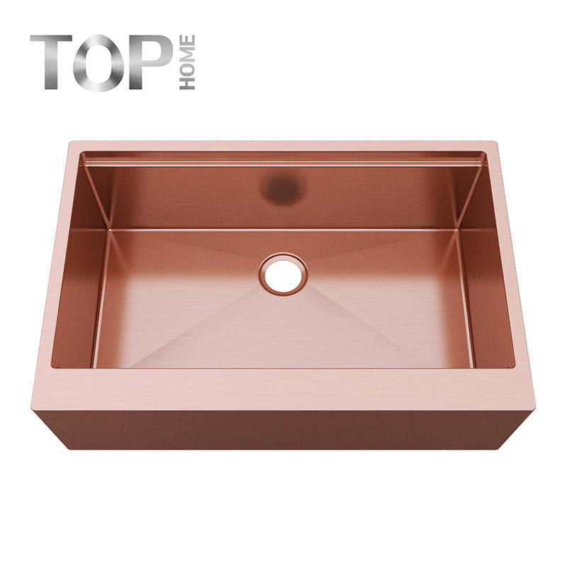 APR3322S Collection rose glod apron sink for kitchen single bowl commercial basin
