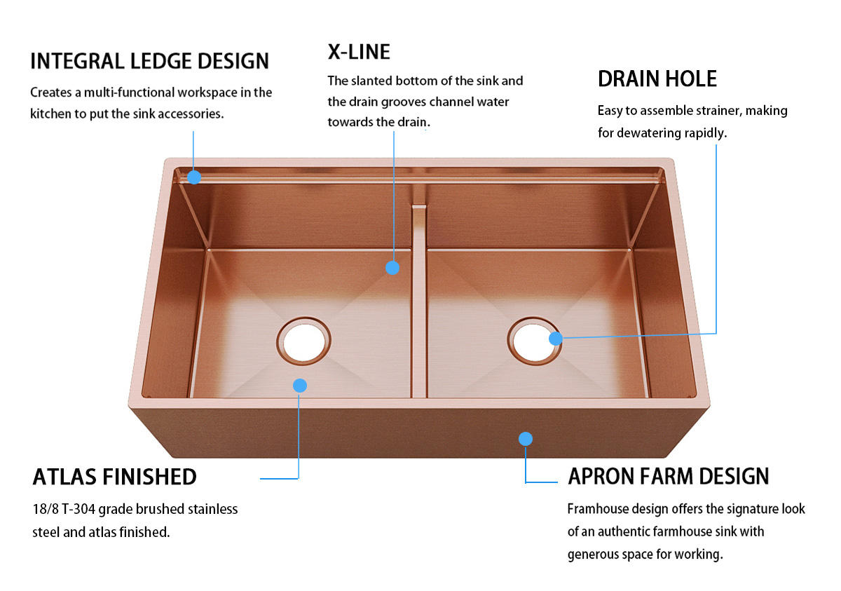 durability kitchen sink dual mount under double bowls for apartment
