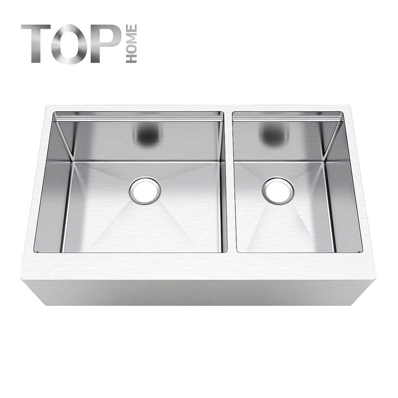 APR3622BL Apron-front kitchen sink 36 inches modern design with CUPC certification