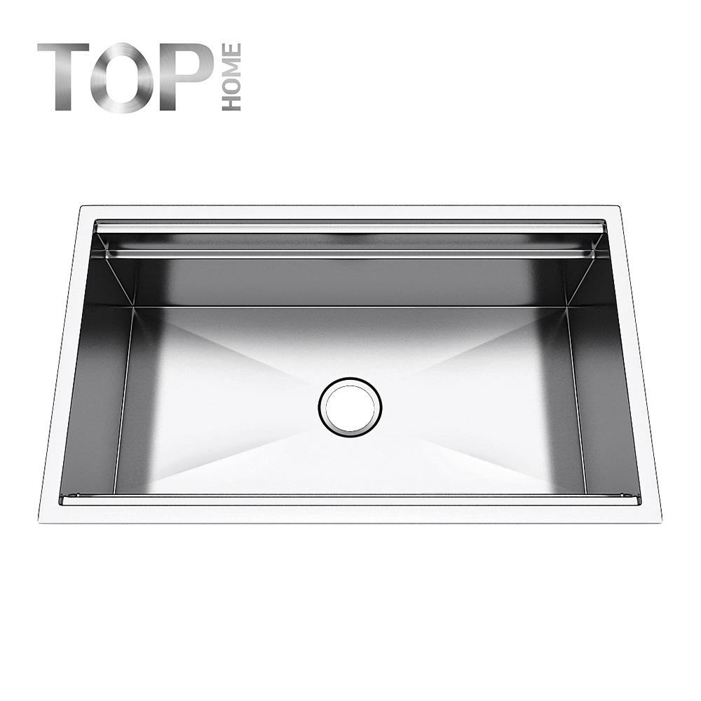LDR3219C single bowl handmade kitchen sink with round corner easy to clean