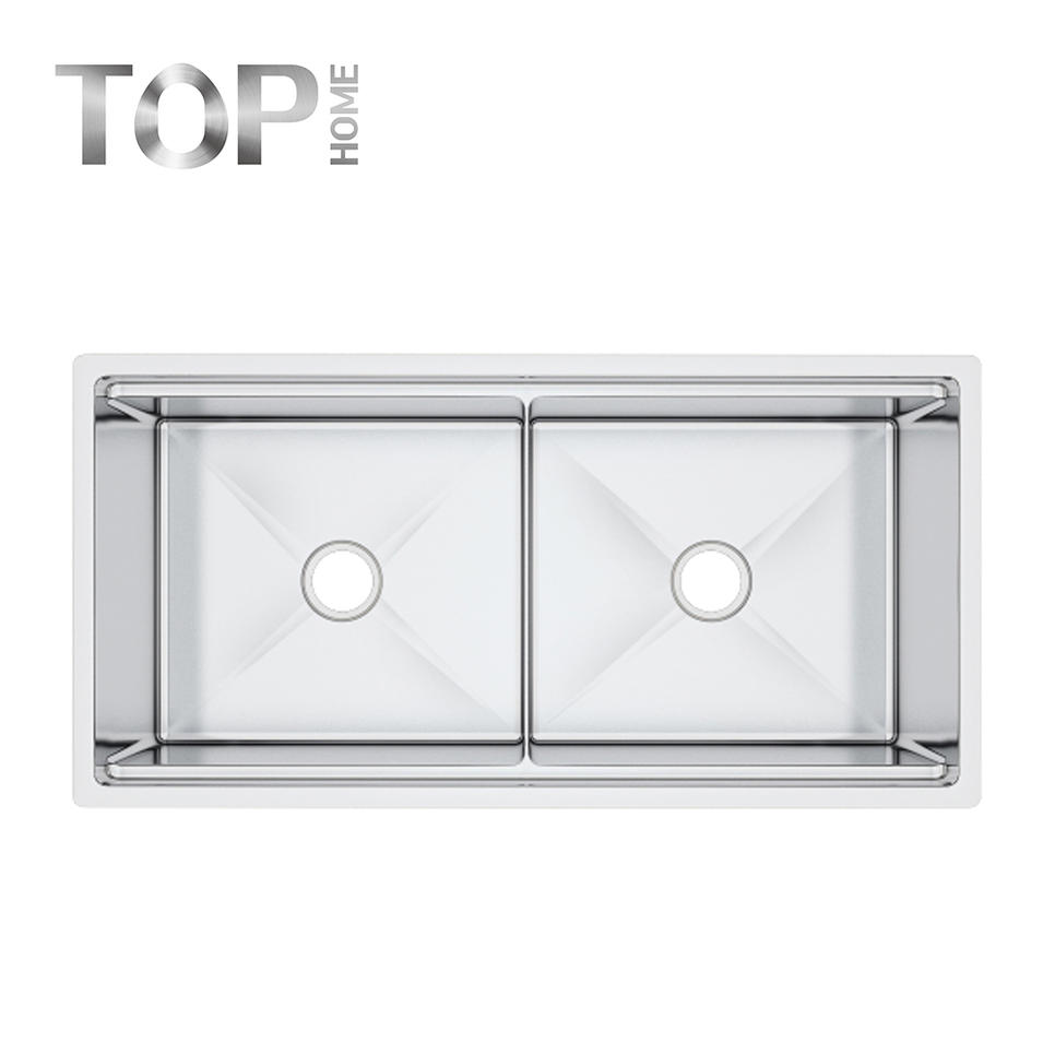 LDR4020A double bowl undermount sink brushed finish