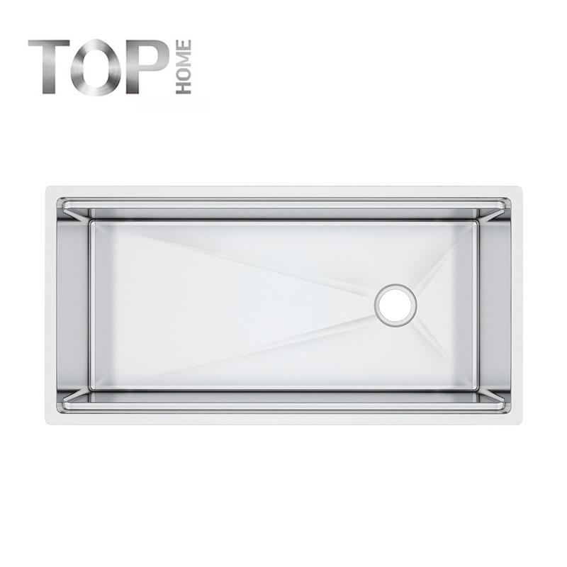 LDR4020C radius inside corner stainless steel  commercial sink 40''X20''x10'' inches
