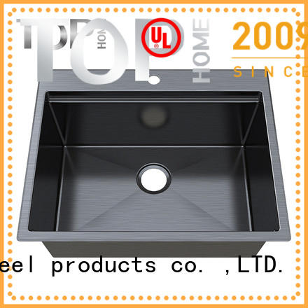 Top Home double stainless steel bathroom sink double bowls