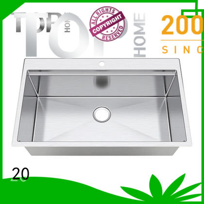 Top Home 30 single bowl kitchen sink metal for cooking