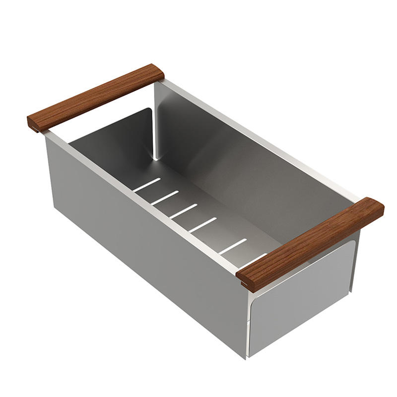 Top Home apron stainless steel bathroom sink double bowls-1