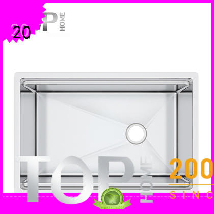 Top Home brushed double bowl kitchen sink easy cleanning for restaurant