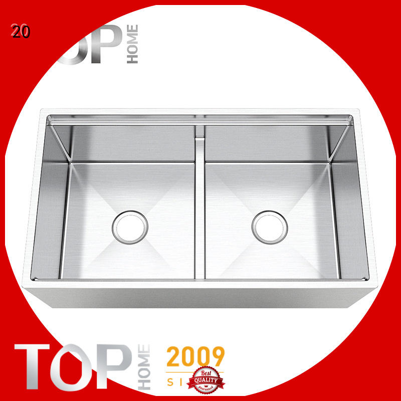Top Home allinone apron front kitchen sink dewatering rapidly for kitchen