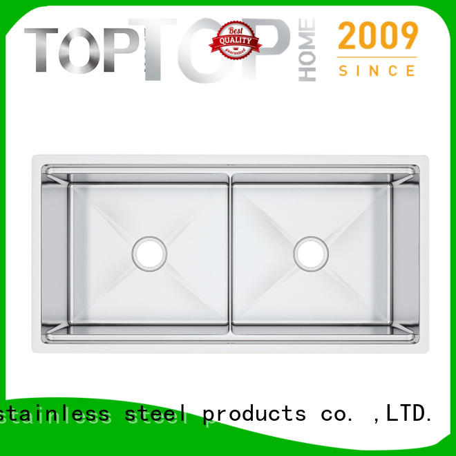 Top Home durable undermount stainless steel kitchen sink wash easily for countertop