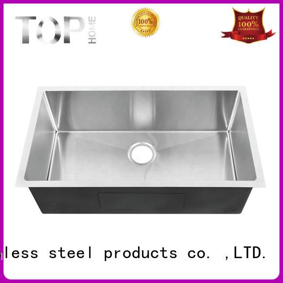 Top Home easy to clean undermount stainless steel kitchen sink easy installation restaurant
