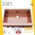 Top Home modern copper color kitchen sink double for apartment