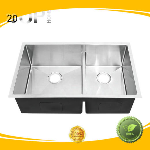 Top Home easy to clean black stainless kitchen sink radius restaurant
