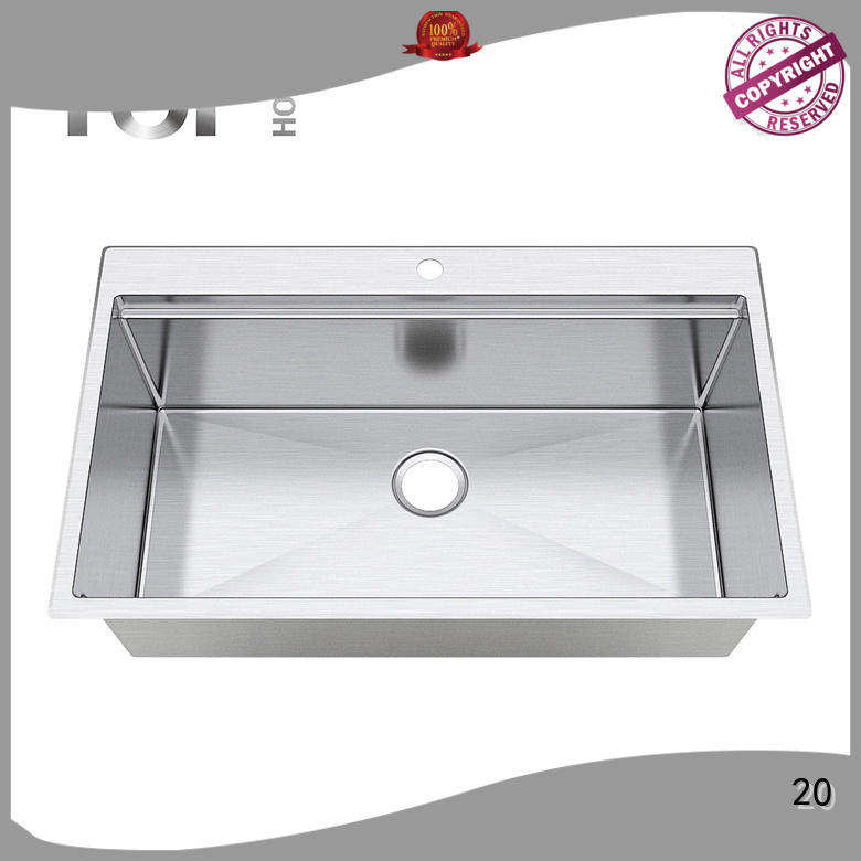 Top Home durable stainless steel sink easy cleanning for countertop