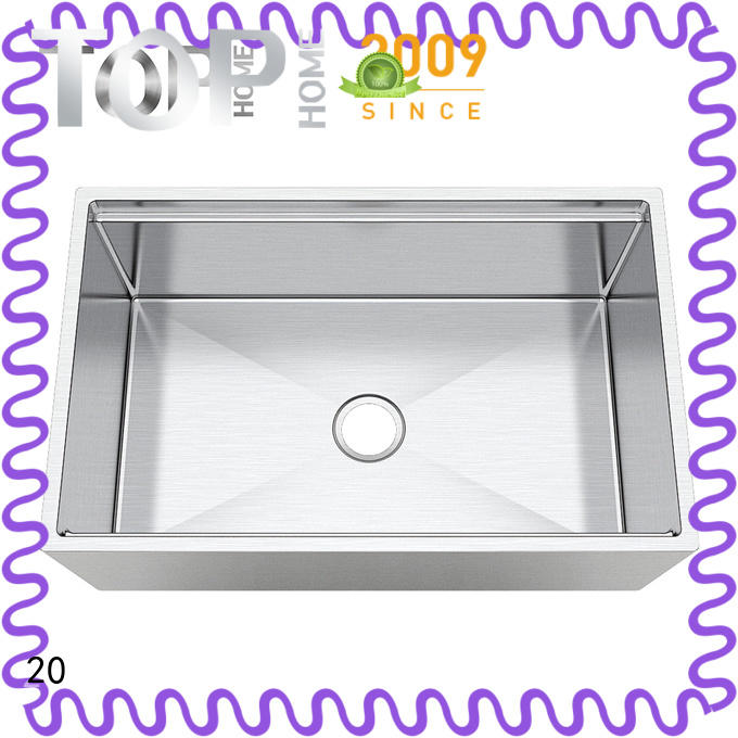 Top Home stainless steel apron front sink allinone for outdoor