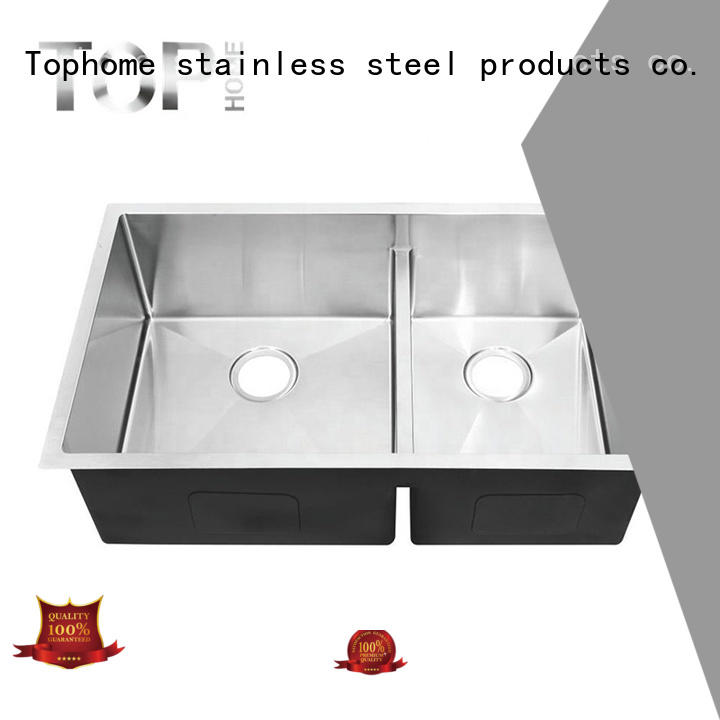 easy to clean stainless steel undermount farmhouse sink Eco-Friendly restaurant Top Home