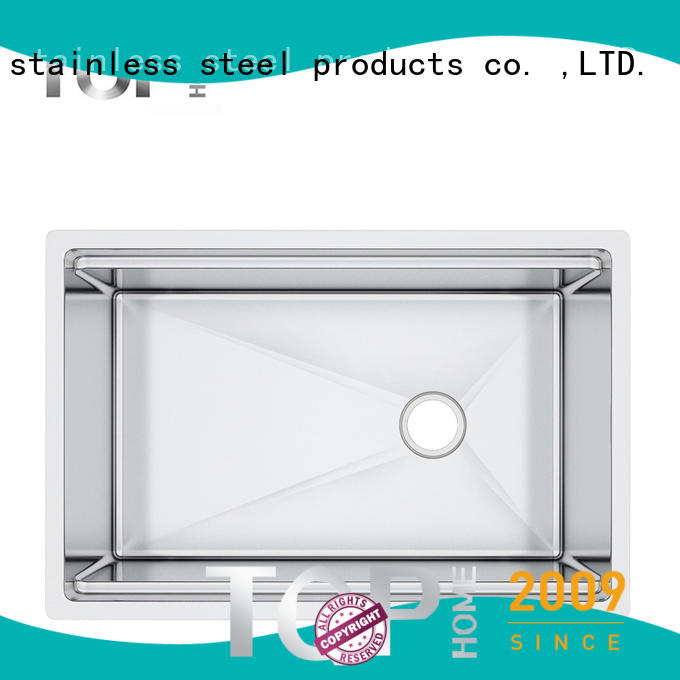 convenience stainless steel under mount sink corners wash easily for restaurant